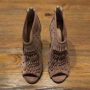 Fringed ankle booties.